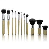 속눈썹 경기자 11 PCS Professional 메이크업 브러쉬 화장품 Rea Beauty Kabuki Brush Tech 타트 메이크업