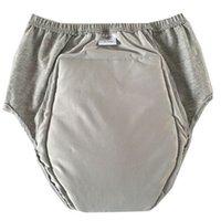 Erwachsene Tuch Windeln Mann Frau kann ältere Urin waschen Harn nicht nass Windel Pants Inkontinenz wasserdichte Baumwollwindel 50-220ml 210320