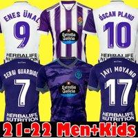 21 22 Real Valladolid Футбольные трикотажки Fede S. Sergi Oscar Plano CamiSetas de Fútbol 2021 2022 M.salisu Футбол футбол Мужчины Kids Kit