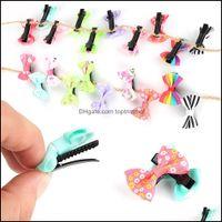 Pins Aessories Araçları Ürünleri10 ADET Şeker Renk Firkete Baskı Şerit Mini Yay BB Bebek Çocuklar Kızlar için Bb Bb