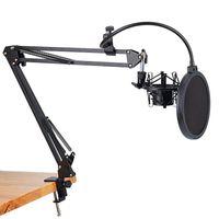 Micrófono de micrófono NB-35 Soporte de Scissor Y Montaje de Montaje Montaje de Montaje Mecanquilo Micrófonos Micrófonos
