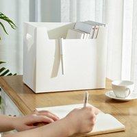 Portable Desktop Einfache Aufbewahrungsbox Büro Multifunktions Schreibwaren Aufbewahrungsbox Fall PP Kunststoff Hand Storage Box Organizer VT1687