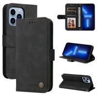 Fashion Skin Feel Leather Wallet Cases For Iphone 13 Pro Max 12 Mini 11 XS X 8 7 6 Plus Phone13 Business Hand Feeling Magnetic Frame ID Card Slot Holder Flip Cover Lanyard