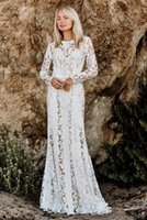 Bohemian Mermaid 2022 Wedding Dresses Bridal Gowns Lace Appliqued Arabic Long Sleeve Custom Made robe de mariee