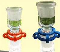 Adaptateur Drop Dropdown Adapter Bong Adapters 45mm Plastique Keck Clips pour tuyaux d'eau Clips de pinces Connectez-vous pour le verre sur le verre Huile Resigs 288 V2