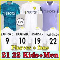 21 22 LEEDS Jersey Jersey Bamford Klich United 2021 2022 Alioski Phillips Jersey Hernandez Llorente Rodrigo M Camiseta Kit Kids Kit