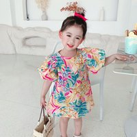 Newest Quality INS Kids girls flower dress Child princess summer Boutique Children Clothing 2123 Q2