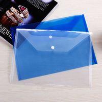 Arquivamento de suprimentos A4 Document File Bolsas com Botão Snap Envelopes Transparentes Pastas de papel de plástico 16C23NX W3GR