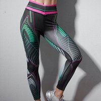 Women's Leggings LZYVOO Fashion Women Sports High Waist Push Up Exercise FitnessPrinted Colorful Pants