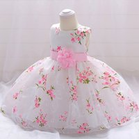 Infant Girls First Communion Dress Newborn Baby 1st Year Christening Clothes Flower Ball Gown Children Princess Wedding Dresses for Toddler Outfits