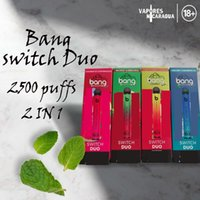 Bang XXL Switch Duo Pro Max 2 IN 1 Disposable Device E-cigarettes 2000 2500 Puffs 1100mAh Battery Prefilled Pod XXtra Double Vape Pen