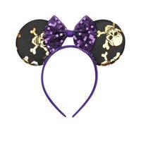 Euros enfants fille cheveux accessoire halloween souris oreille avec paillettes arc conception bâtonnets de cheveux filles pinces cheveux bébé accessoire Halloween fête
