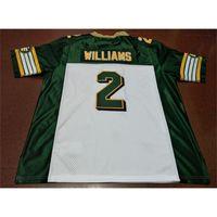 Kundenspezifische Bucht Jugendfrauen Vintage Edmonton Eskimos # 2 Gizmo Williams Football Jersey Größe S-5XL oder benutzerdefinierte JEDE NAME ODER NUMMER JERSEY