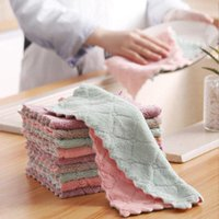 Cleaning Cloths 5 10 20pcs Super Absorbent Microfiber Kitchen Dish Cloth Soft Double Sided Scouring Pad Rags Household Towel