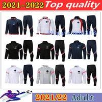 2021 2022 Messi Fußballjacke Trainingsanzug Set Suringement 21 22 Mbappe Icardi Langarm Reißverschluss Jacken MAILTOT DE FOOTEL Training Anzug Sportbekleidung