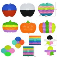 2021 Latest Halloween 30cm 40cm Little Ghost fidget toys Pumpkin Apple Checkerboard game toys Big Giant Large-size Toy Push Bubble Sensory Stress Relief toys