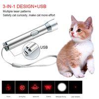 USB Charging Cat Tickle Flashlight Laser Teasing Cat Pen Puzzle Pet Laser Mascotas Cat Product Pet Supplies