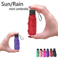 Small Fashion Folding Umbrella Rain Women Gift Men Mini Pocket Parasol Girls Anti-UV Waterproof Portable Travel umbrellas 4859 Q2