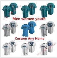 2021 Seattle Männer Frauen Kinder Ken Griffey Jr. Baseball Trikots Suzuki Ichiro Felix Hernandez Edgar Martinez Mitch Haniger Kyle Seager Marco Gonzales Mariners Jersey
