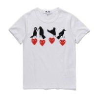 COM оптом Новое лучшее качество CDG Des Taro Okamoto Japan Limited Play Heart Tee праздник футболка