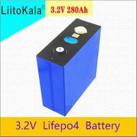 1 stücke liitokala 3.2v 280AH LIFEPO4 Lithiumbatterien Eisenphosphatzelle für DIY-Batterie-Pack-Wechselrichter Fahrzeug RV