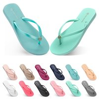 seventy Slippers Beach shoes Flip Flops womens green yellow ...