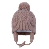 모자 모자 유로 - 미국 어린이 모자 순수한 코어 - 스펀 원사 아기 귀 보호자 모자 가을과 겨울 봉 제 따뜻한 니트