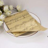 Kreative braune musikalische Notizen DIY Hochzeit Gefälligkeiten Kraftpapierkegel Candy Boxes Eis Creme Party Geschenkbox Giveaways Wrap DHD6949
