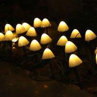 Solar Lamps LED String Light Garden Decorative Lamp Waterproof Mushroom Lights Garland Patio Decor Outdoor Festival