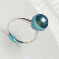 Tahiti malachite green Ring 18K thick gold inlaid with mirror gloss wedding rings
