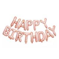 Globos de feliz cumpleaños, globos de banner de aluminio para la decoración y suministros de la fiesta de cumpleaños