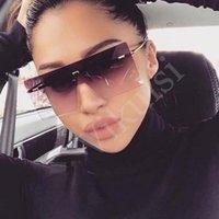 선글라스 Unisex 모드 대형 대형 선글라스 유명한 디자인 유행 원피스 여성 남성 Mask UV400