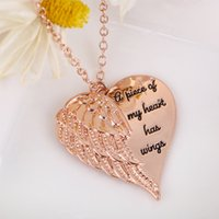 Angel Wings Wings Clavicle Chain Love Letters Halsband