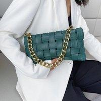 Weave Damenkupplungen Kette Design Umhängetaschen Kleine PU Leder Crossbody für Frauen 2021 Luxus Handtasche Damen Sling Tasche