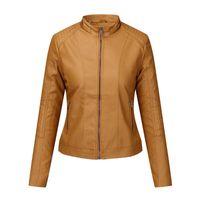 Men's Jackets 2021 Women Pu Leather Cool Slim Short Motorcycle Female Autumn Coat Basic Street Outerwear#J30