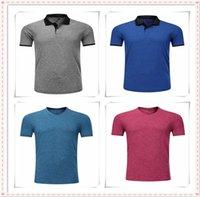 2021 Summer Manica corta Olo T-SH IRT T Shirt Fashion SH Casual Slim Solid Color Business M Ens Abbigliamento AB81005