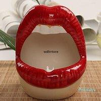 Гостиная Творческие губы керамические пепельница мода дома мини пепельница подарок досуг красные губы декоративные личности меблировка пепельница