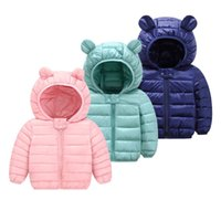 Winter Baby Girls Jacket Kids Boys Light Down Coats With Ear Hoodie Spring Girl Clothes Infant Children's Clothing For Coat 210913