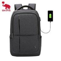 Oiwas 17-дюймовый рюкзак ноутбука с USB зарядки мужские рюкзаки большой емкости деловой пакеты для женщин-подростки 210903