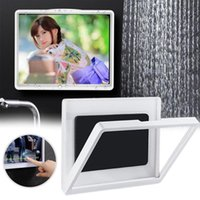 Cell Phone Mounts & Holders Wall Mounted Shower Holder Waterproof Tablet Stand Touch Screen Punch-Free Case For Bathroom Toilet Kitchen