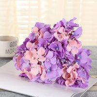 New Design Artificial Hydrangea Hydrangea Flower Head Bouquet da sposa Decorazione o FAI DA TE Sfondo di produzione con F Jllrji XMH_Home 2143 V2