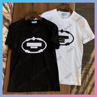 Мужские женские роскоши дизайнеры футболки 2021 повседневные рубашки вязание мужская одежда шаблон печатных тройников