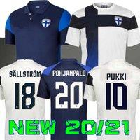 2020 2021 Finlândia National Team Soccer Jerseys Pukki Skrabb Raitala Pohjanpalo Kamara Sallstrom Jensen Lod Home Away Camisa de Futebol Fardos 20 21