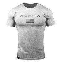 Sport stilvoller dichtes Schweiß absorbierendes Training Freizeit-T-shirt Rundhals-lockerer großer Muskel-feste Farbe Hälfte