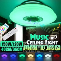 램프 커버 음영 120W / 150W 블루투스 LED 천장 조명 256 RGB 음악 speeker 디 밍이 가능한 원격 홈 지원 앱 제어