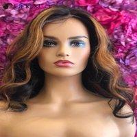 Unextar 180% Remy Brésilien Wavy Wavy Dentelle Wigs pour femmes Mélèbre Perruque de cheveux de couleur 13x4