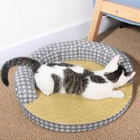 Cat Beds & Furniture Summer Bed House Rattan Mat Dog Kennel Sofa Cushion Pet Rug Cama Para Gato Teepee