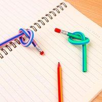 Dekompresyon oyuncak yaratıcı renkli şerit kalemler çocuk sevimli kavisli yumuşak toptan öğrenciler yazma için kalemler bükülmüş