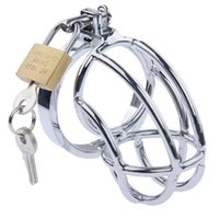 Cockrings Stainless Steel Metal Cock Cage With Penis Bondage Sleeve Barbed Ring Male Chastity Device Locks Adult Belt Lock Sex Toys