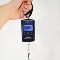 50pcs 40kg 10g Portable Mini Electronic Scale Scales Hanging Fishing Luggage Hook Pocket Digital Weight Free Ship NHD8908
